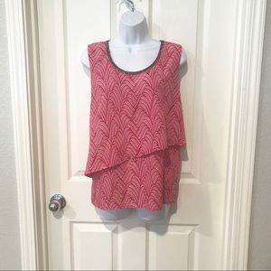 Juicy Couture Asymmetrical tank top hot pink XL